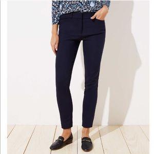LOFT Julie Skinny Navy Blue Career Pants 0